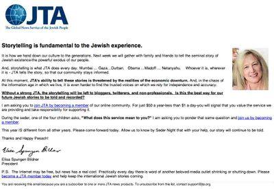JTA email 4-3-09