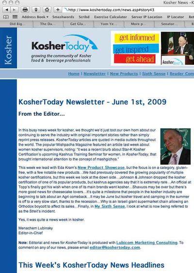 Kosher Today 1