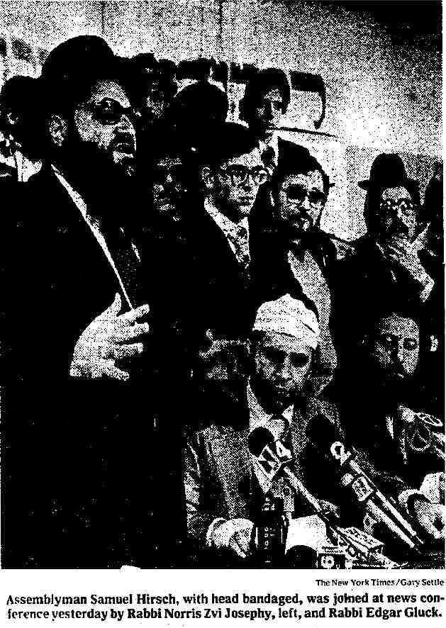 Rabbi Samuel Hirsch BP Riots 1979 Head Bandaged (low res)
