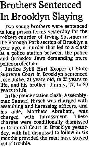 Charges against Hirsch conditionally dropped 12-19-1979