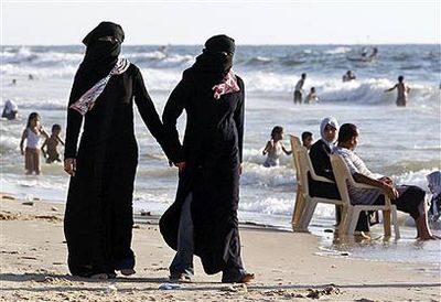 Muslim Women On Beach