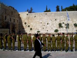 Soldiers kotel ceremony