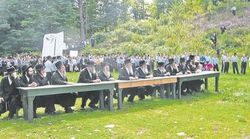 Haredim Rabbis Children Protest Israel Napanoch NY 8-24-09