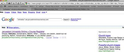 Jerusalem online University Google As For Orthodox