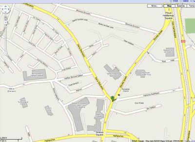 Haredi Riot Map 8-30-09 1