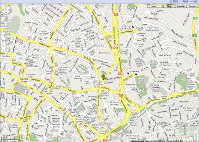 Haredi Riot map 8-30-09 2
