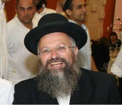 Rabbi Shmuel Eliyahu black hat