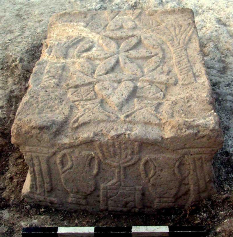 Migdal Beach Synagogue 50 BCE - 100 CE closeup