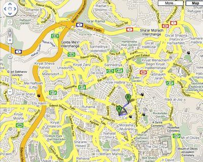 Mea Shearim Beit yisrael Map 1