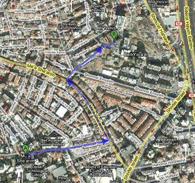 Mea Shearim Beit Yisrael Map 2