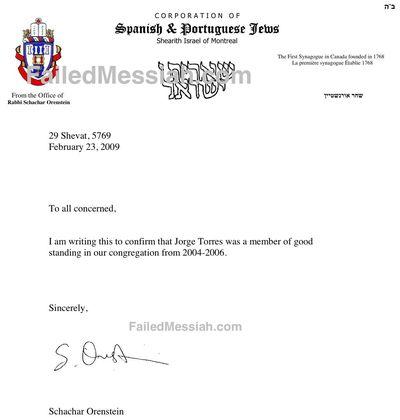 Puello Rabbi Actual Letter