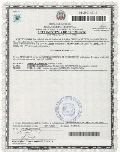 Jorge Puello Certificate