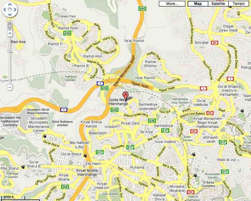 Intel Jerusalem Google Maps