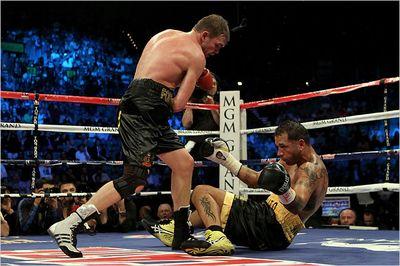 Foreman Knocks Down Santos