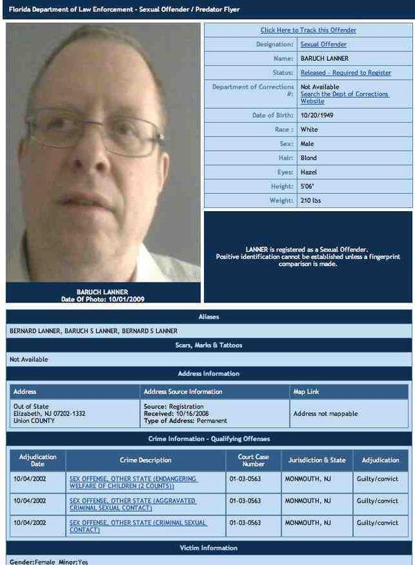 state of fl sex offender registry