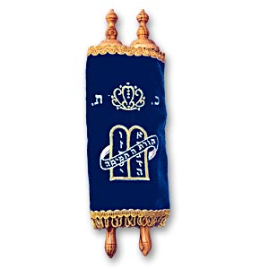 Torah Scroll closed and covered