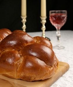 Challah Candles Wine