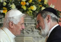Pope Benedict XVI and Chief Rabbi Jonathan Sacks