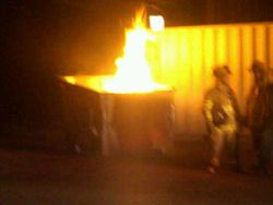 Kiryas Joel riot 8-18-10 Trash Burning