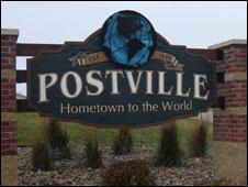 Postville sign