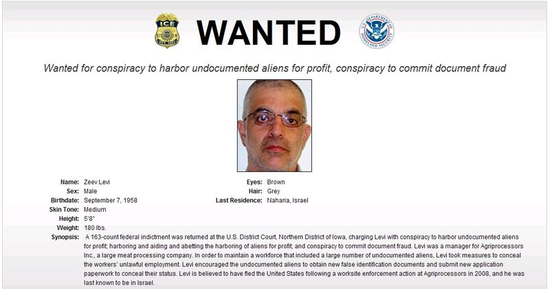 Zev Levy Wanted Poster
