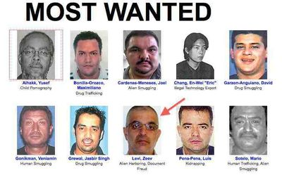 ... and is on Immigration and Customs Enforcement's Ten Most Wanted list