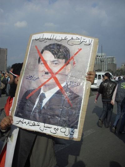 Mubarak as Hitler 1