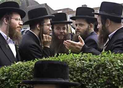 Haredi Men Talking