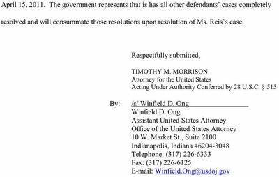 Dina Wein Reis case status report 3-22-11 2