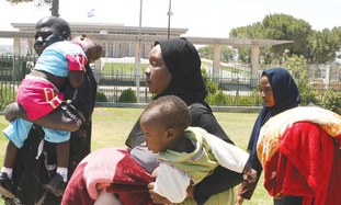 African Refugee Family In Israel