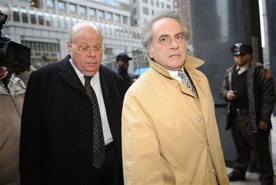 NY State Senator Carl Kruger, left, and his attorney Benjamin Brafman