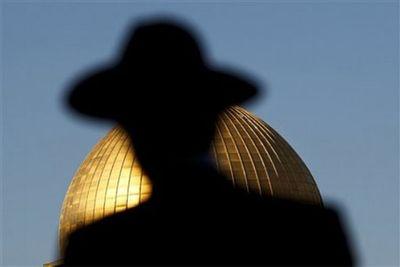 Haredi sillouette dome of the rock