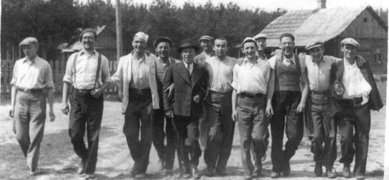 Mir Yeshiva Students In A Summer Camp (Rabbi Shmuel Berenbaum 2nd from right)