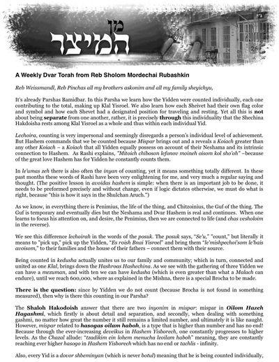 Rubashkin Dvar HaTorah 1 5-27-11