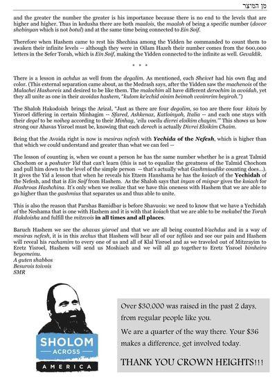 Rubashkin Dvar HaTorah 1 p2 5-27-11