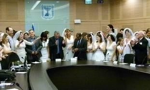 Knesset Pro-Civil Marriage Protest