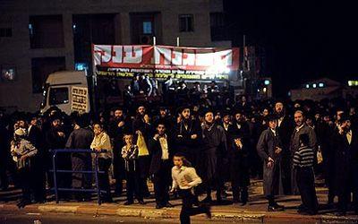 Haredi Rally Against Orthodox Zionist Girls' Grade School 9-20-11