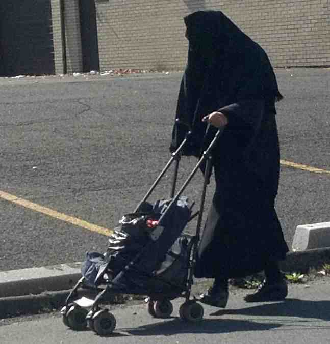 Burka Cult Taliban Jewish Woman Monsey Closeup 10-16-2011