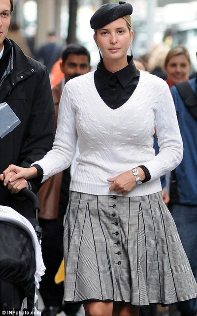 Ivanka Trump 2nd day of Sukkot hair covered 10-14-2011
