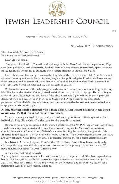 JLC Shuchat Letter