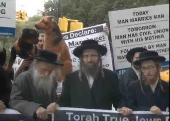 Neturei Karta Anti-Gay Marriage Protest