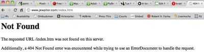 Jewpiter Overview Page 404 error