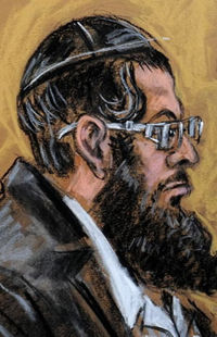 DAvid Silverman in court Orthodox sketch