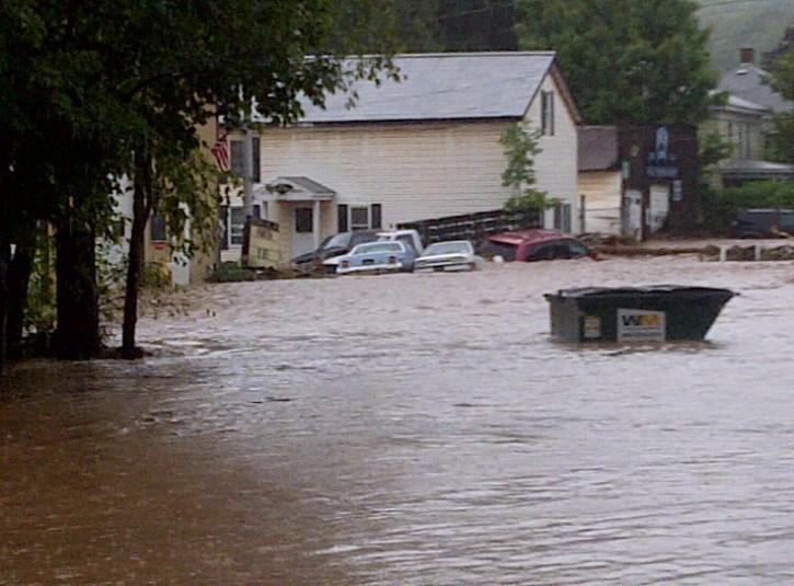 Flood Post-Hurricane Fleischmans NY 8-28-11