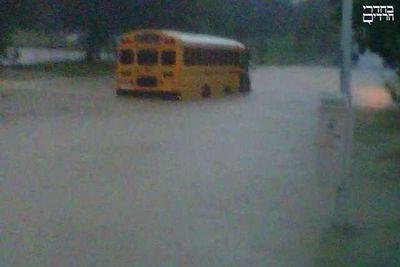Kj bus in hurricane flood waters 8-28-11.