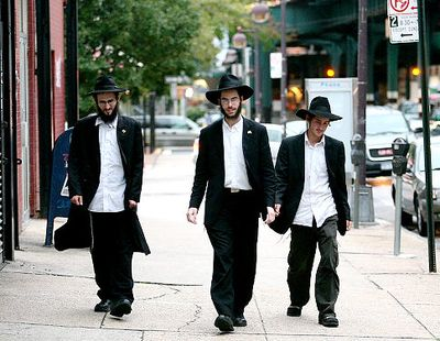 Rabbi Meir Kavabow, Rabbi Shmuel Notik and Levi Kabakow