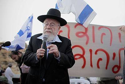 Dov Lior finger talking mic