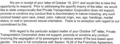 B110 letter to NYC 10-25-11 excerpt