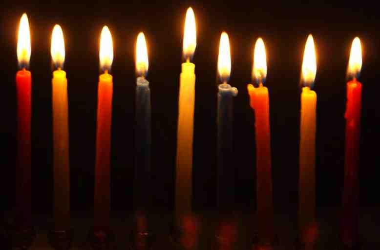 Hanukkah Candles Lit 8th Day