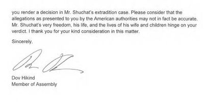 Hikind Shuchat Letter To Israel Justice Minister p2